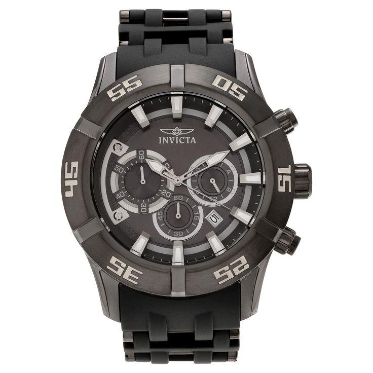 Men's Invicta 21820 Sea Spider Quartz Chronograph Gray Dial Strap Watch - Gray