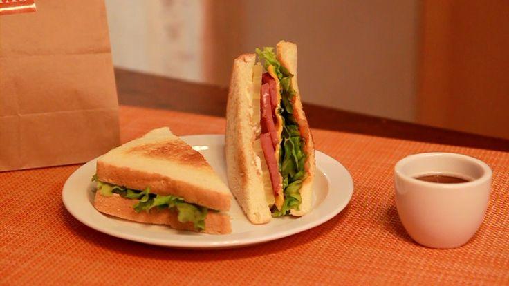 고구마, 햄 & 치즈 샌드위치  (Club Sandwich Recipe)