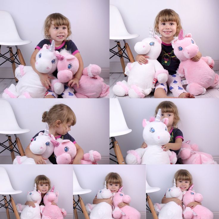 """Unicorns approved by Teddie Lane's very own model and teddy tester Zara """"I love them these two are for Zara"""" :) but more unicorns now available @ www.teddielane.com.au"""