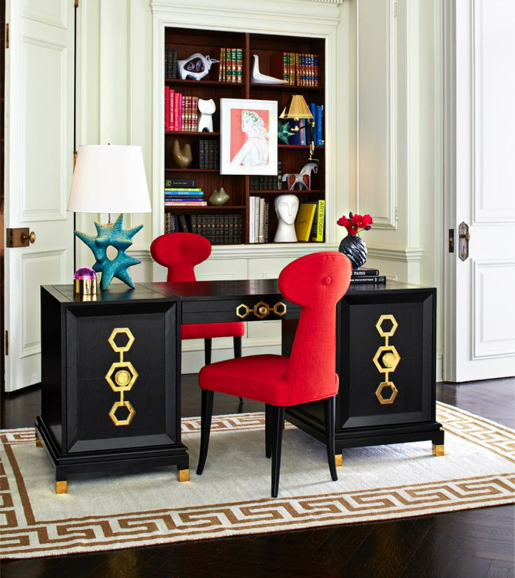 Outfit Your Office In The Jonathan Adler Turner Executive Desk Chic Chinoiserie Meets Park Avenue