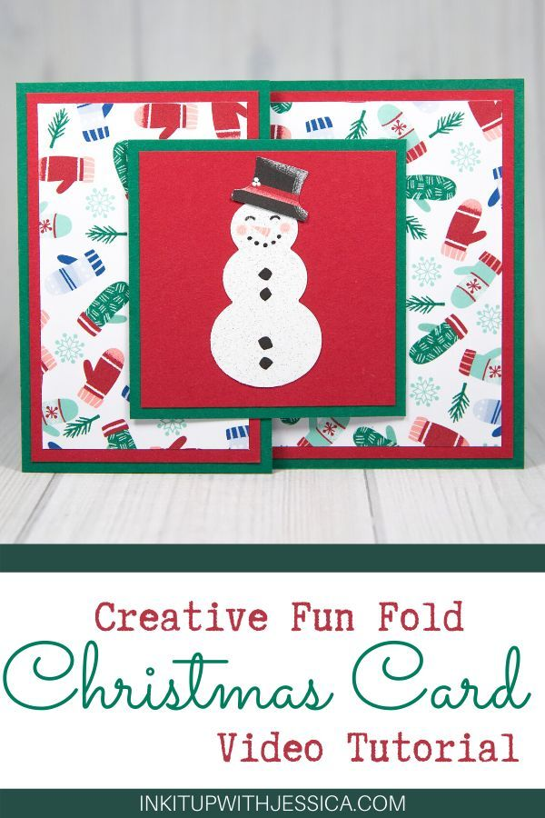Double Card Fun Fold Ink It Up With Jessica Card Making Ideas Stamping Techniques In 2020 Fun Fold Cards Christmas Cards Handmade Christmas Card Tutorials