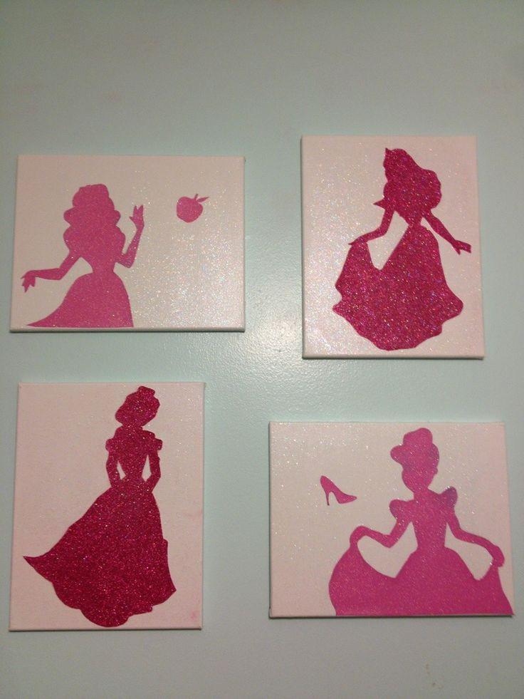 Glitter mod podge canvas art with images mod podge