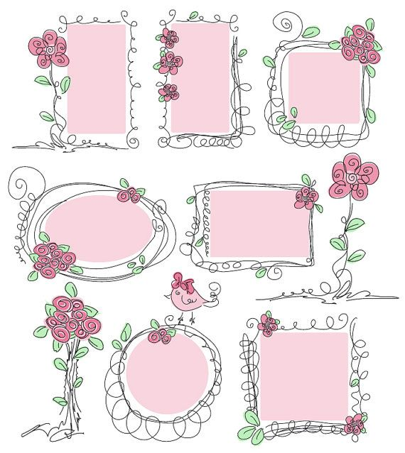 Digital Frames Set Hand drawn picture frames by antuanetto, $10.00                                                                                                                                                                                 Mais