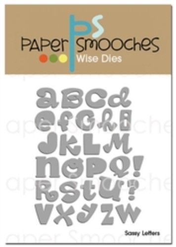 Papersmooches Dies - Sassy Letters | Memory Crafts