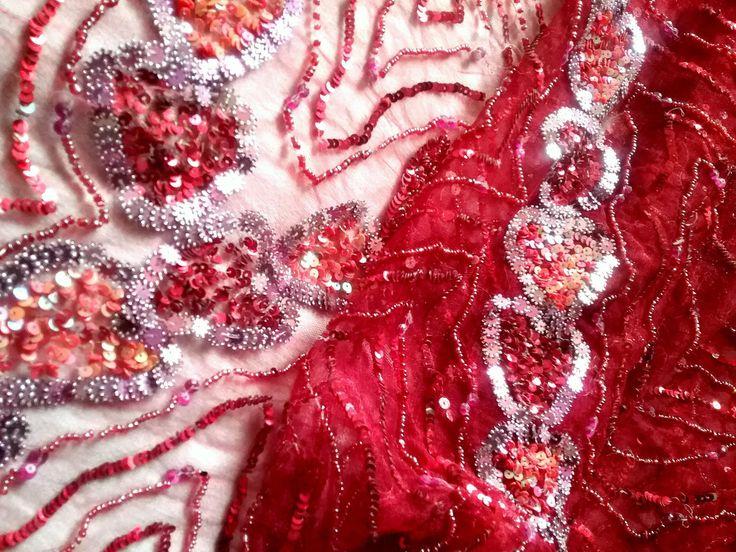 luxus spitzenstoff rosa toene herzen 3 25m kurdistan kleidung