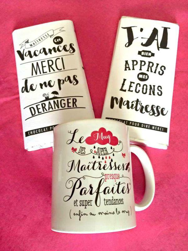 Cadeaux de fin d'années - chocolats message et mug