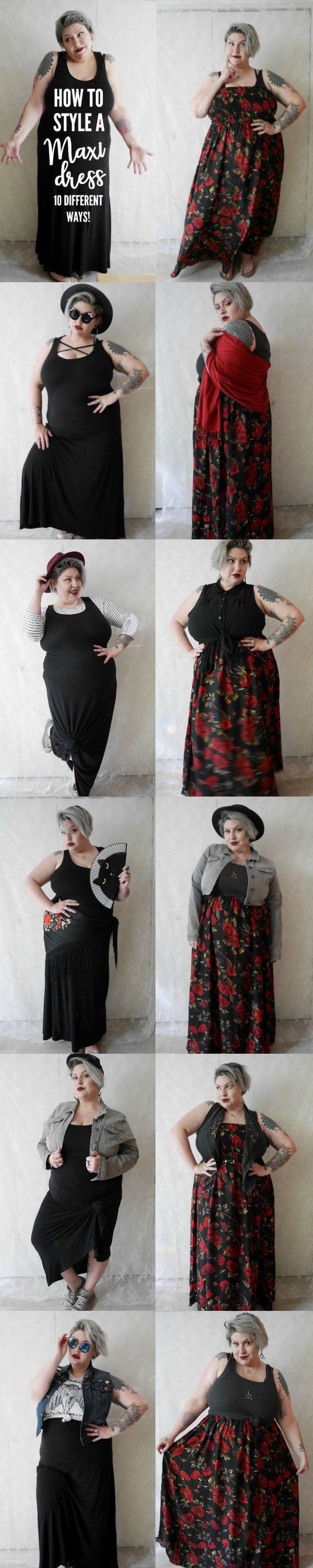 10 ways to style a Plus Size Maxi Dress | Margot Meanie
