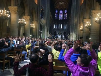"""Authorities say an assailant wielding a hammer attacked Paris police guarding Notre Dame Cathedral, crying """"This  is for Syria"""" before being shot and wounded by officers outside one of  France's most popular tourist sites   Man attacks Paris police with tool at Notre Dame 'for Syria'NowThe Associated Press — By PHILIPPE SOTTO And ELAINE GANLEY - Associated Press  1/13  PARIS (AP) — An assailant wielding a hammer attacked Paris police guarding Notre Dame Cathedral Tuesday, crying """""""