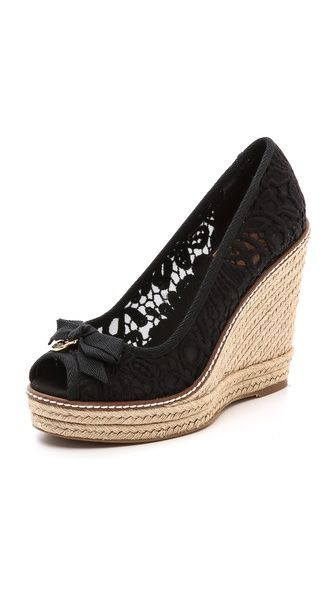 Tory Burch peep toe wedges - I want these