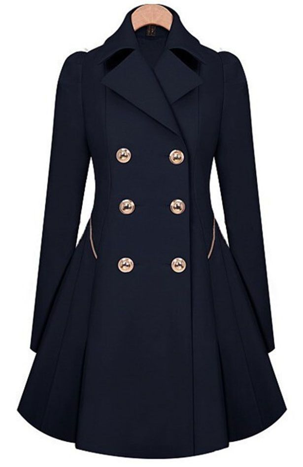 Cupshe Rainy Day Double-Breasted Trench Coat
