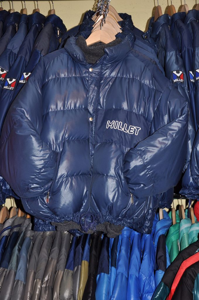 Way before Moncler got global, Millet was the first Down Jacket to become fashionable. French Vintage Down Jacket 1980s