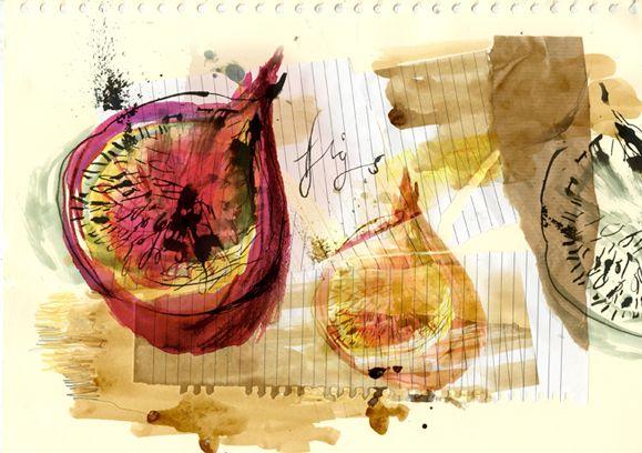 Food Illustration - Clair Rossiter illustration