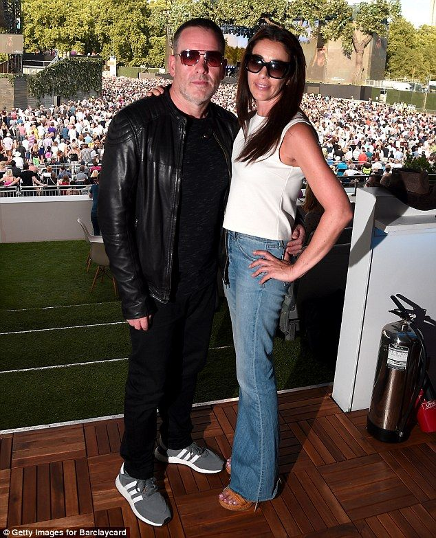 Chris Moyles cosies up to girlfriend Tiffany Austin at BST Hyde Park