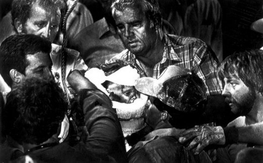 1988: Scott Shaw, Odessa (TX) American - For his photograph of the child Jessica McClure being rescued from the well into which she had fallen.