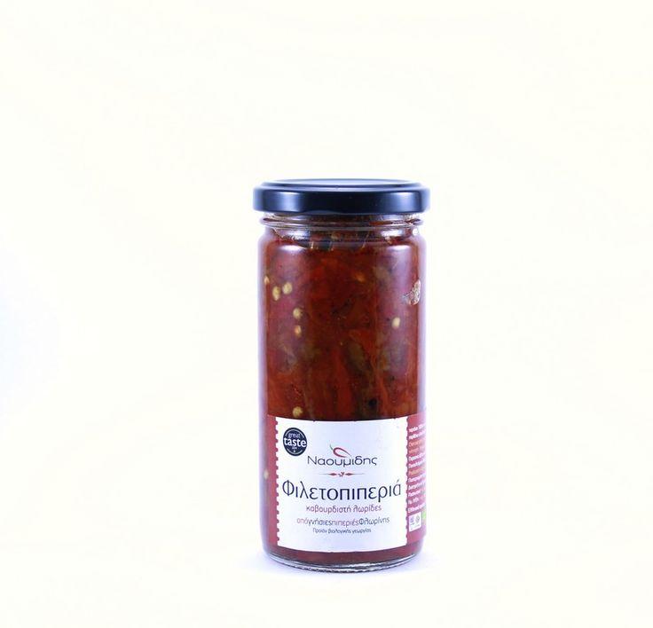 ''NAOUMIDIS'' Filetopiperia Roasted   BIO (roasted red pepper fillets)