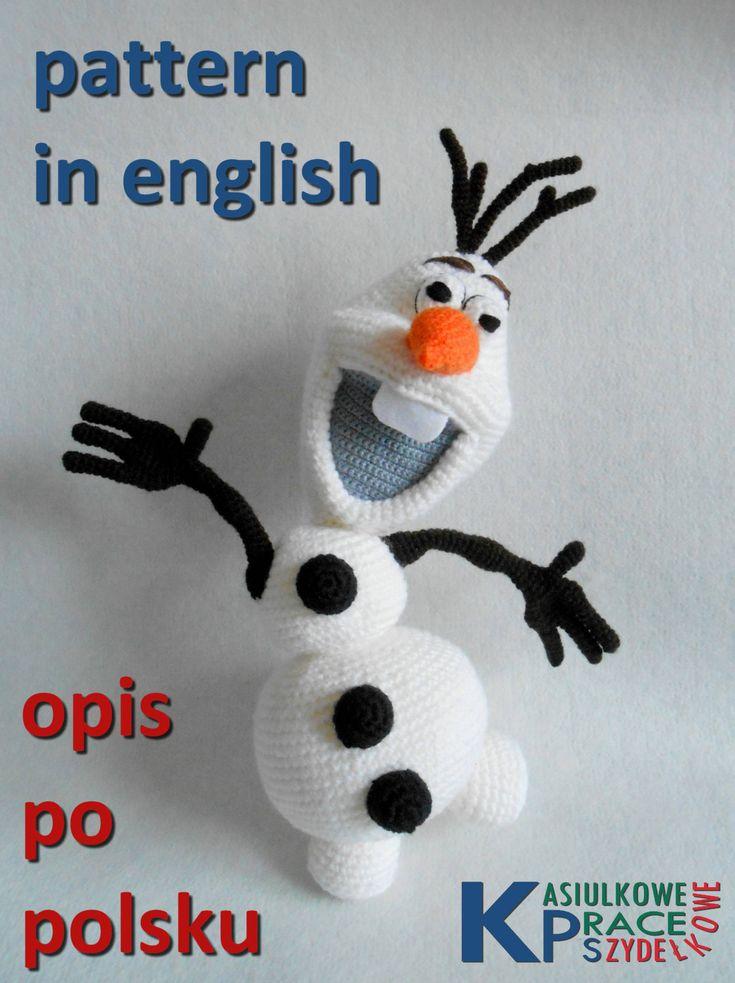English crochet OLAF pattern Frozen by KatesCrochetPattern on Etsy
