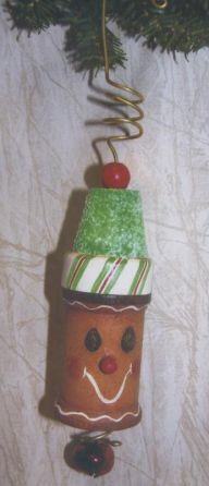 Ginger Spool Man Ornament