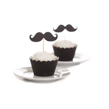 We can't go past these gorgeous Moustache Cupcake Toppers http://www.thehome.com.au/party-fever/mustache-cupcake-toppers-diy-kit-set-of-50