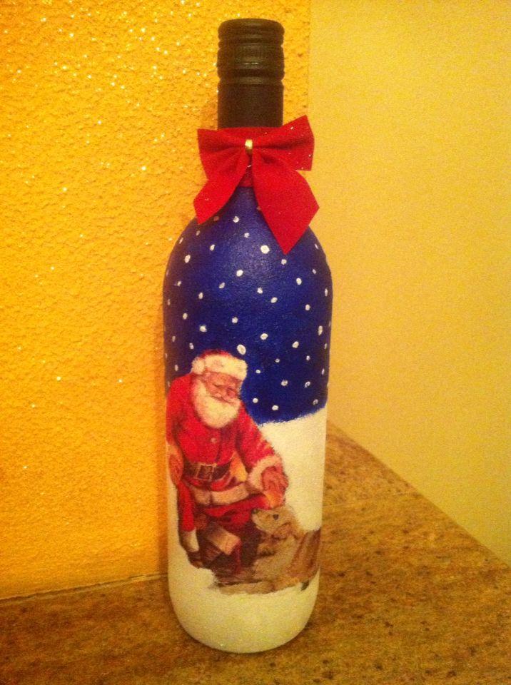 Ντεκουπάζ σε μπουκάλι κρασιού