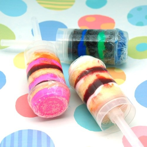 Layered Cake Push Pops
