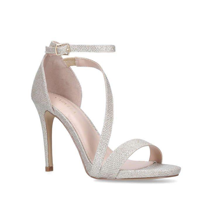 Libertine Metallic Gold Stiletto Heel Sandals By Carvela