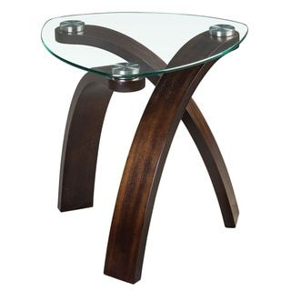 'Allure' Modern Glass-top Arch Legged Table | Overstock.com Shopping - The Best Deals on Coffee, Sofa & End Tables