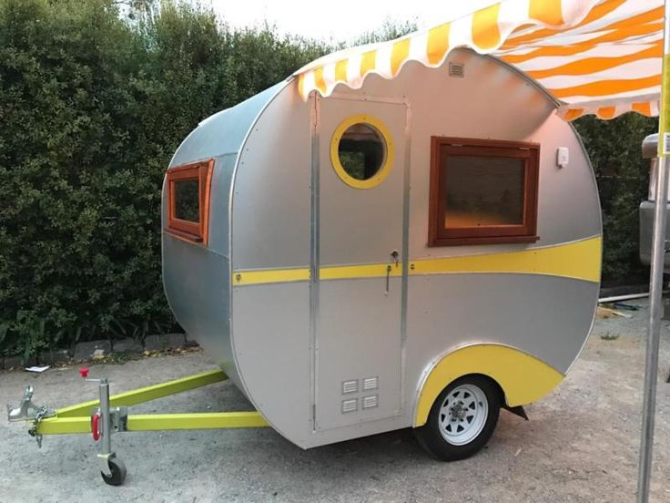 This is a super cool vintage style camper, tiny, light and easy to tow Comes with double bed, two double power points, light, timber bench tops, sink, two ..., 1141986675