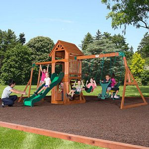 Backyard Discovery Sonora Cedar Wood Swing Set - just ordered this. Who wants to come over and play!