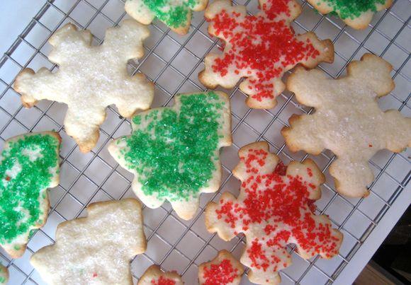 Sugar Cookies Recipe Desserts with all-purpose flour, baking powder, salt, unsalted butter, sugar, eggs, milk, powdered sugar