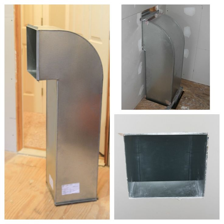 Custom laundry chute made out of galvanized steel one for Laundry chute design