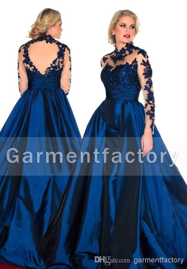 plus long dress blue
