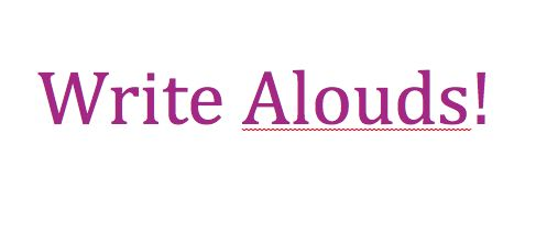 Write Alouds Activity!  This is a neat strategy from Read, Write, Think where students learn to write aloud. In this activity the teacher models verbalizing as they write, so that students can see all of the thinking that is happening as one writes. This is a unique and excellent strategy, especially for those who often struggle to get started with writing.