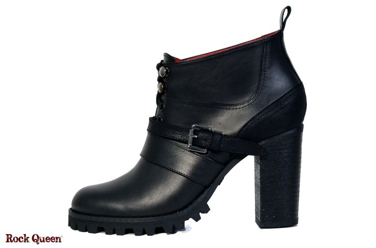 www.rockqueen.shoes https://www.facebook.com/rqshoes #RQ_014  #Rock_Queen #rock #queen #star #shoes #handmade #handcraft #greece #ankle #boots #leather #quality #black #heel #woman #fashion #collection #metal #rabber #truck #truck_sole #red_blood_lining