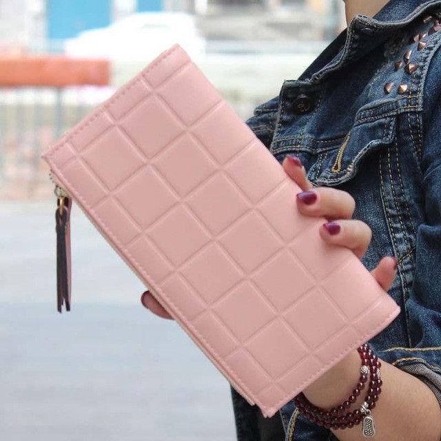 SUQI New Fashion Women Wallets Embossed Wallet Female Clutch Double Zipper Wallet For Women Purse Female Wallet Pouch
