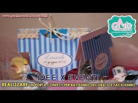 #IDEE X EVENTI - decorare PORTA CONFETTI per BATTESIMO - YouTube