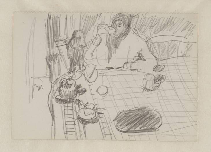 Pierre Bonnard, 'Preparatory Sketch for 'Coffee'' 1915