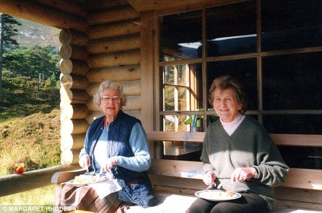 The Queen and her first cousin enjoy lunch at Glen Beg, Her Majesty's log cabin on the Bal...