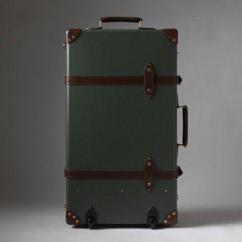 "Globe-Trotter   <b>Centenary</b> 30"" Extra Deep Suitcase (Green/Tan ..."