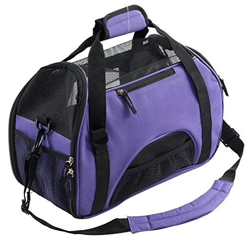 Pet Carrier for Dogs & Cats Comfort Airline Approved Travel Tote Soft Sided Bag for Pets (L, Purple) - http://www.sillydogworld.com/dog-backpack/pet-carrier-for-dogs-cats-comfort-airline-approved-travel-tote-soft-sided-bag-for-pets-l-purple  Visit http://www.sillydogworld.com to read more on this topic