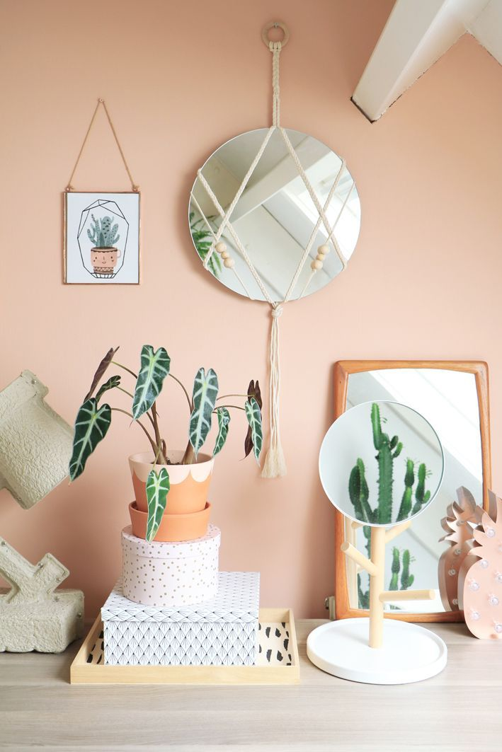 diy macrame mirror