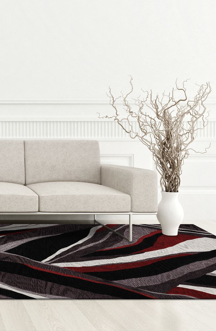 From Bobu0027s Discount Furniture · Made Of A Polyester/Acrylic Blend, This  Lava Area #rug Has Beautiful Cut