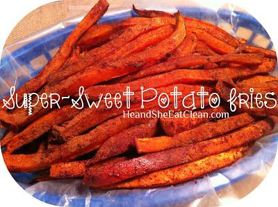 """1. Preheat oven to 400 degrees 2. Slice sweet potatoes into """"fries"""" (we use a vegetable chopper) 3. Place sliced sweet potatoes on a cookie sheet (in one layer) 4. Melt coconut oil in microwave 5. Drizzle sweet potatoes with coconut oil and cinnamon 6. Bake for 15-20 minutes 7. Flip sweet potatoes and bake for another 15-20 minutes"""