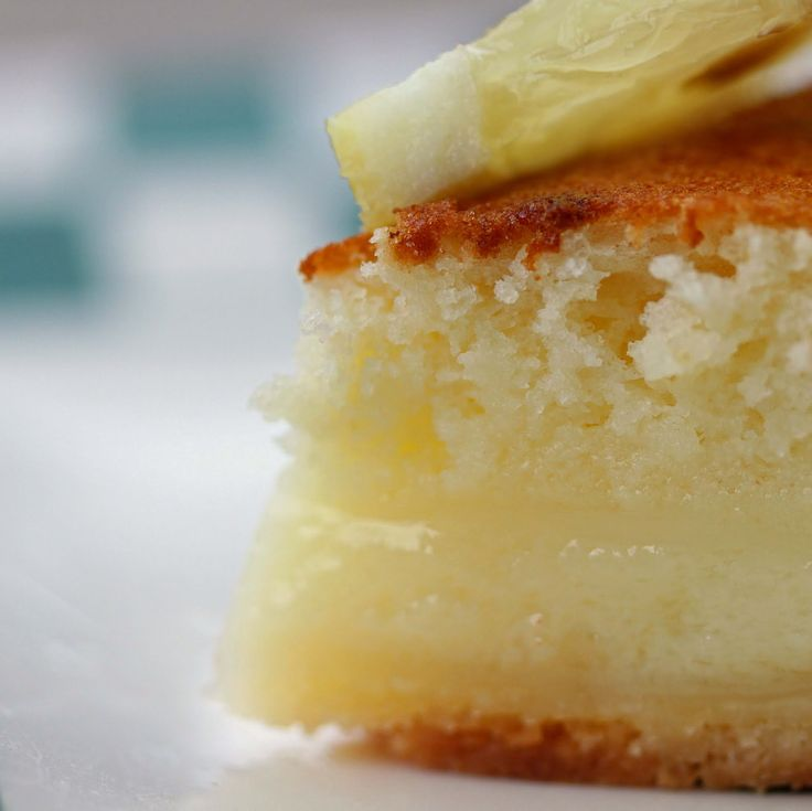 Craving Comfort: Lemon Cake-Pie This super-easy pie bakes into a light (almost angel-food-like) cake on top of a creamy custardy crust-full-of-yummy-ness!