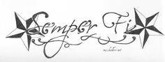 Tattoo Design 'Semper Fi' 4 by ~misskolibri on deviantART
