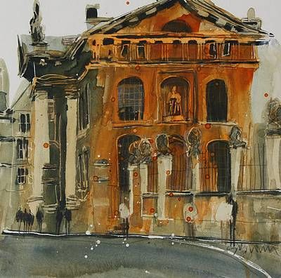 British Artist Susan BROWN - Broad Street, Oxford