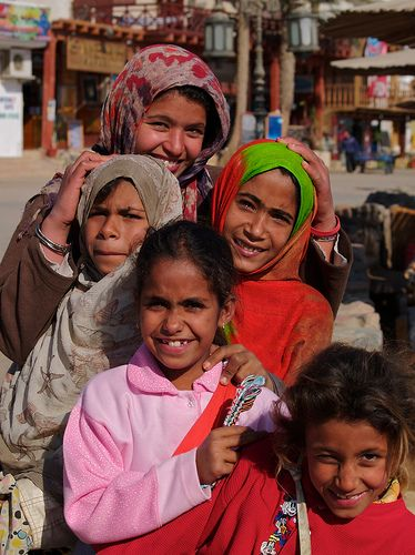 Girls that sell bracelets on the beach in Dahab. I've known all these kids since they were babies.
