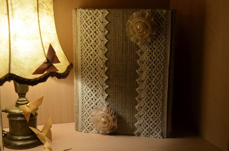 I just finished this jewelry box made out of a book! It`s an elegant and useful decoration and a good idea to not get rid of an old book! <3
