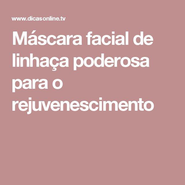 Máscara facial de linhaça poderosa para o rejuvenescimento