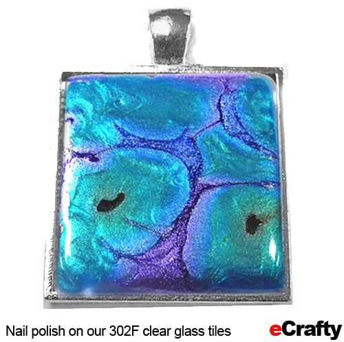 416 best glass tile jewelry images on pinterest glass tiles diy faux dichroic glass jewelry all it takes is your nail polish and our 1193e diykit aloadofball Image collections