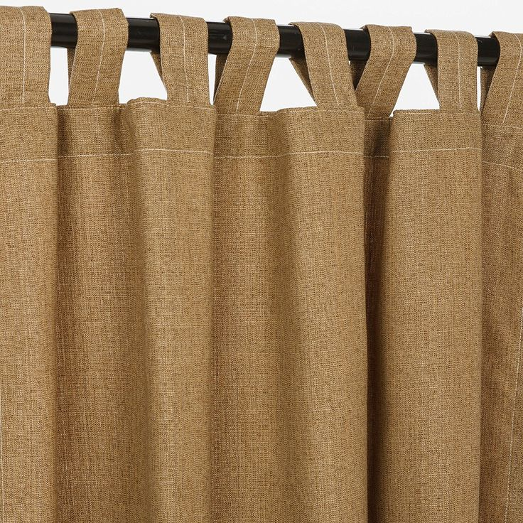 Sunbrella Outdoor Curtain with Tab Top - Linen Sesame, 50x84 * Hurry! Check out this great product (This is an amazon affiliate link. I may earn commission from it)